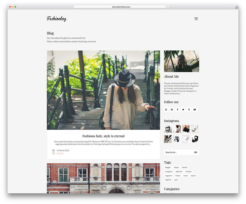 Template for Blogger